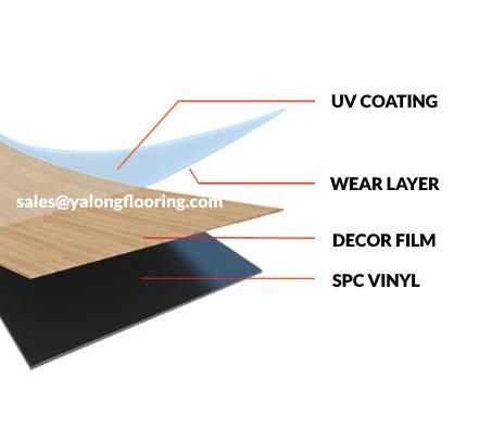 rigid core spc flooring structure